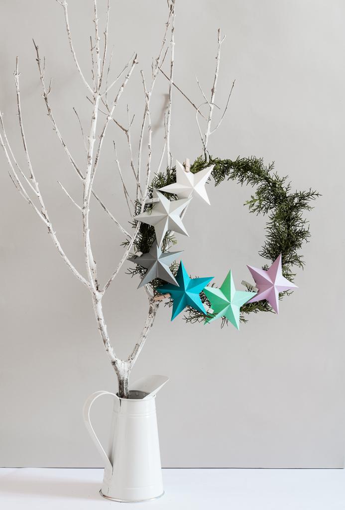 DIY Kerstkrans 3D ster