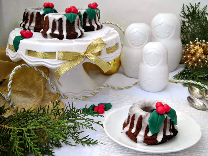 Mini bundt cake Kerst