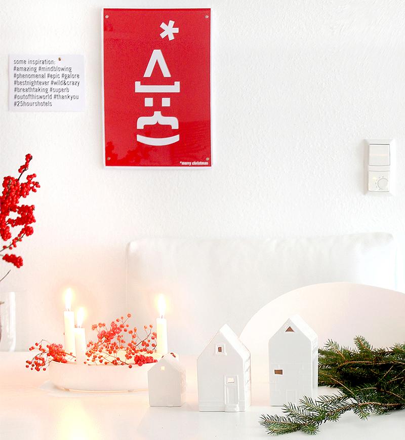 Typografie Kerstman poster