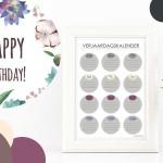 Verjaardagskalender printable