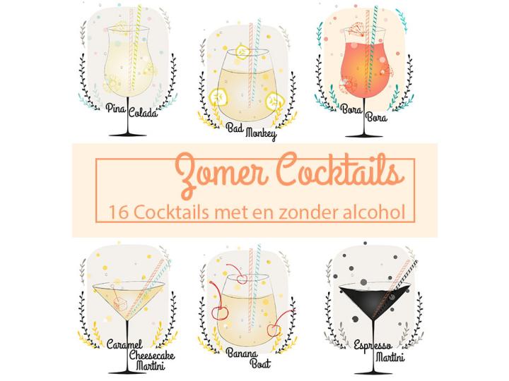 Zomer cocktails recepten printable
