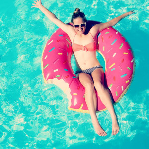 Poolparty gadget - Donut zwemband