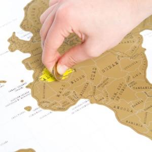 Krasbare wereldkaart