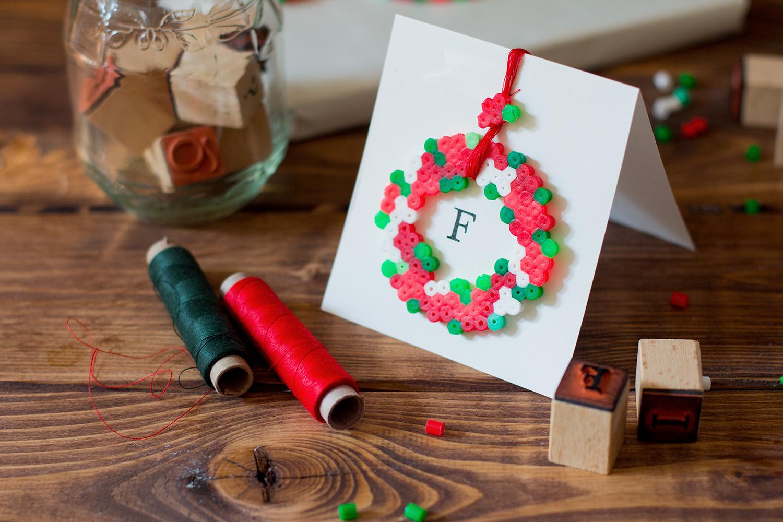 Kerstmis 2016 - Cadeauverpakking met strijkkralen - 1