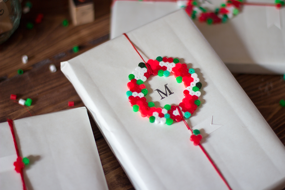 Kerstmis 2016 - Cadeauverpakking met strijkkralen - 2