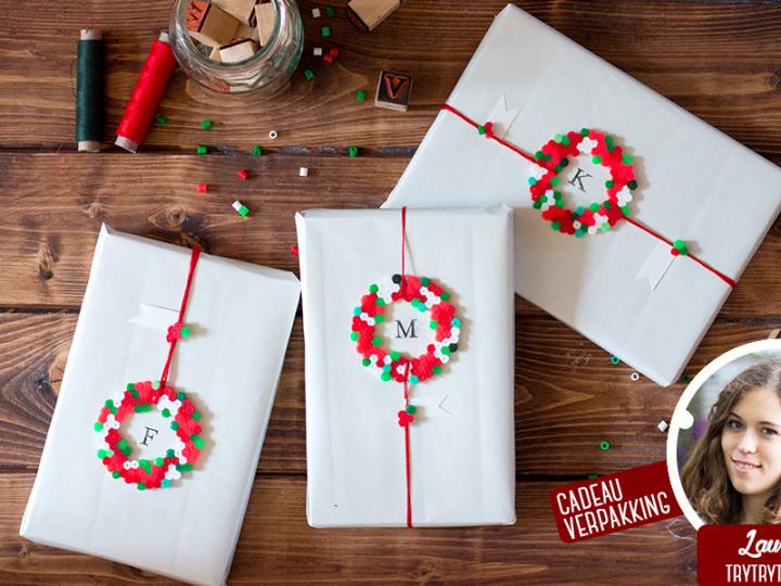 Kerstmis 2016 - Cadeauverpakking met strijkkralen - header