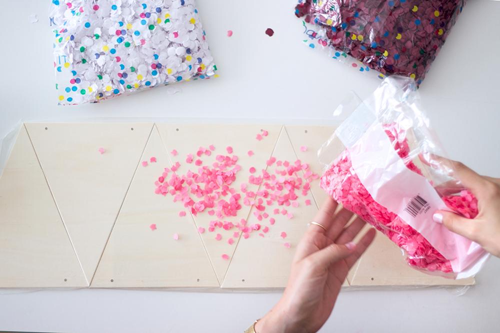 Kerstmis 2016 - DIY confetti kerstboom - 2
