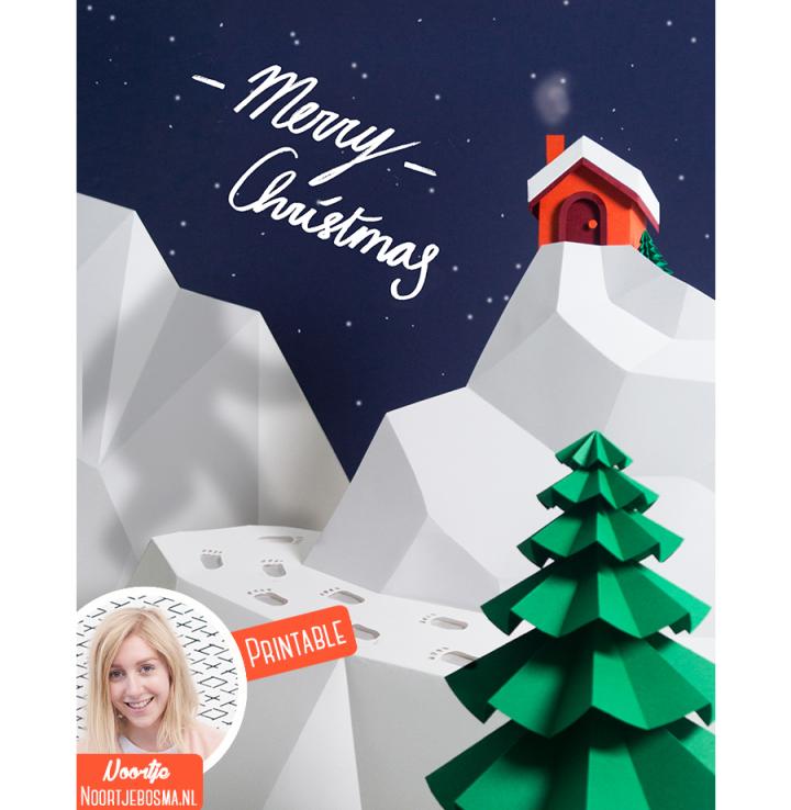 Kerstmis 2016 - Kerstkaart printable