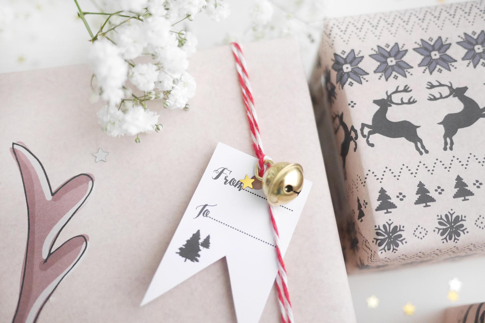 Kerstmis 2016 cadeauverpakking en labels 1