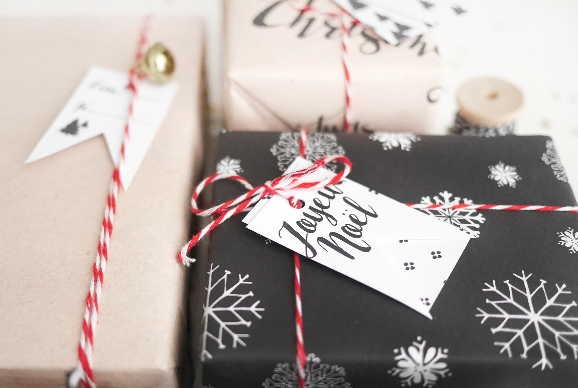 Kerstmis 2016 cadeauverpakking en labels 2