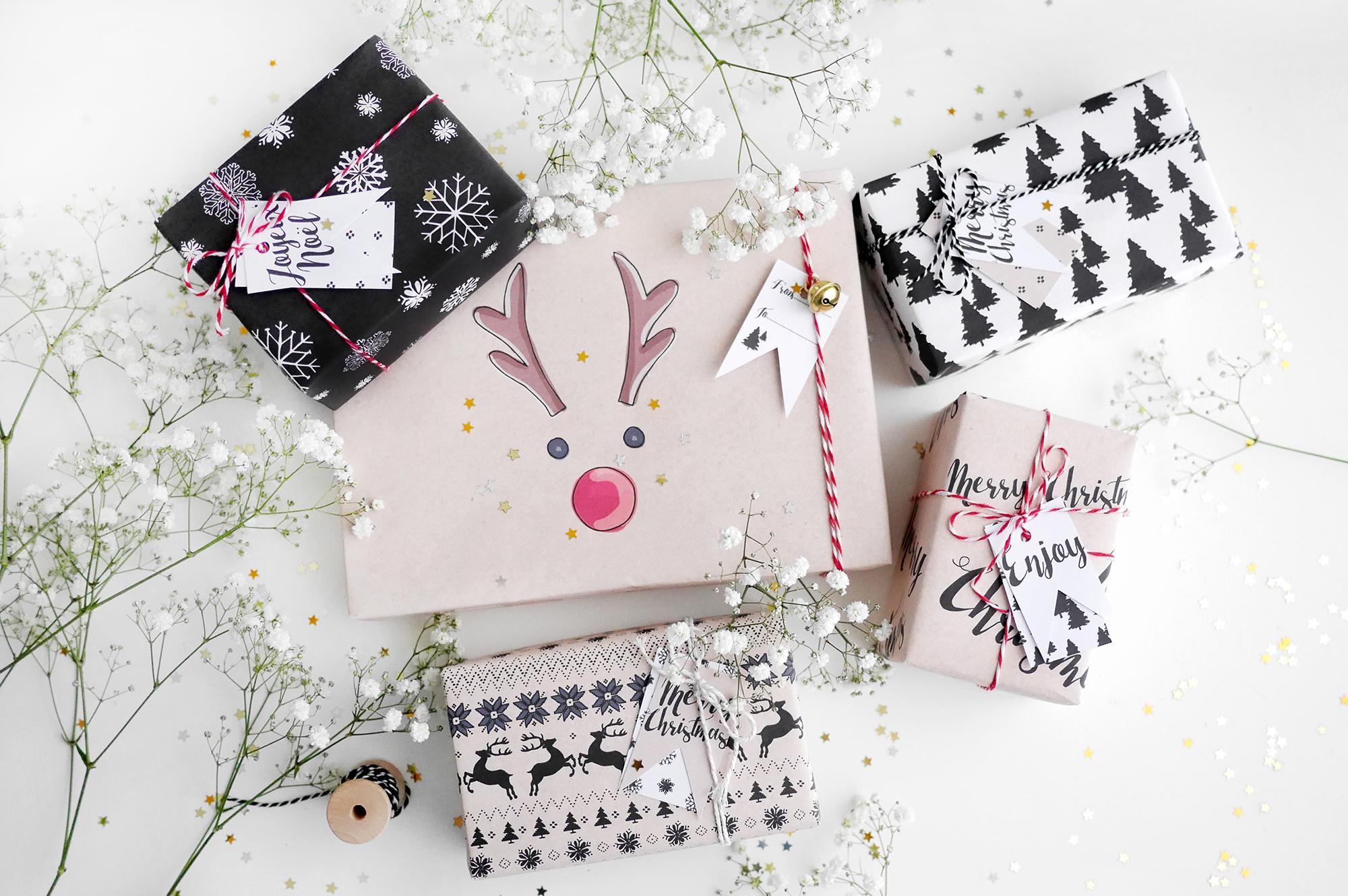 Kerstmis 2016 cadeauverpakking en labels