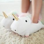 Cadeau voor vriendin - Lichtgevende eenhoornpantoffels