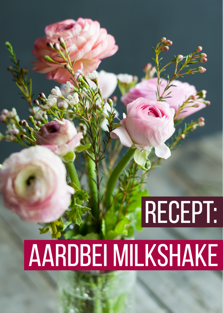 Aardbei milkshake 1