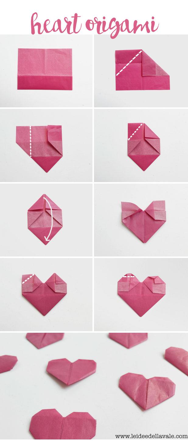 Valentijnscadeau - DIY origami hart 3