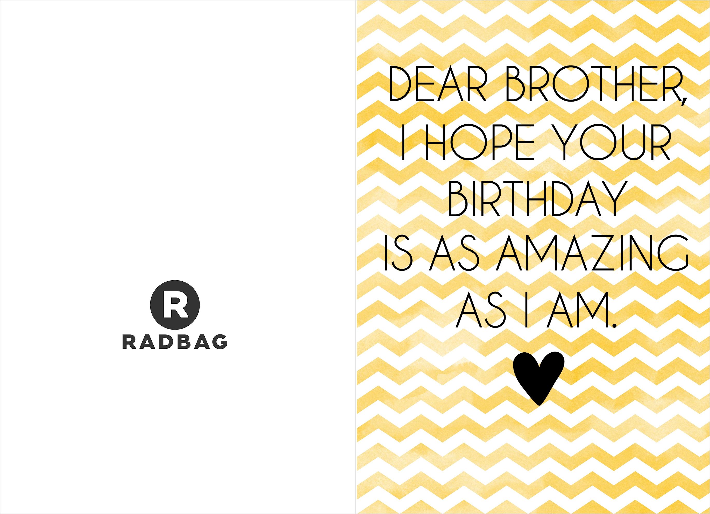 Verjaardagskaart printable - Broederliefde