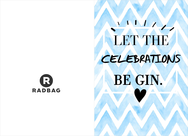 Verjaardagskaart printable - Gin Gin