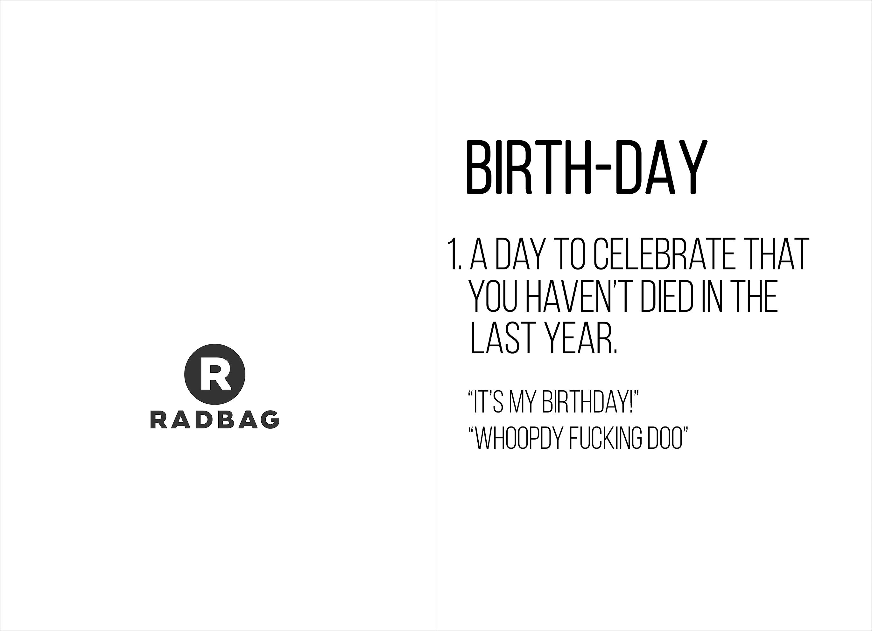 Verjaardagskaart printable - Still alive