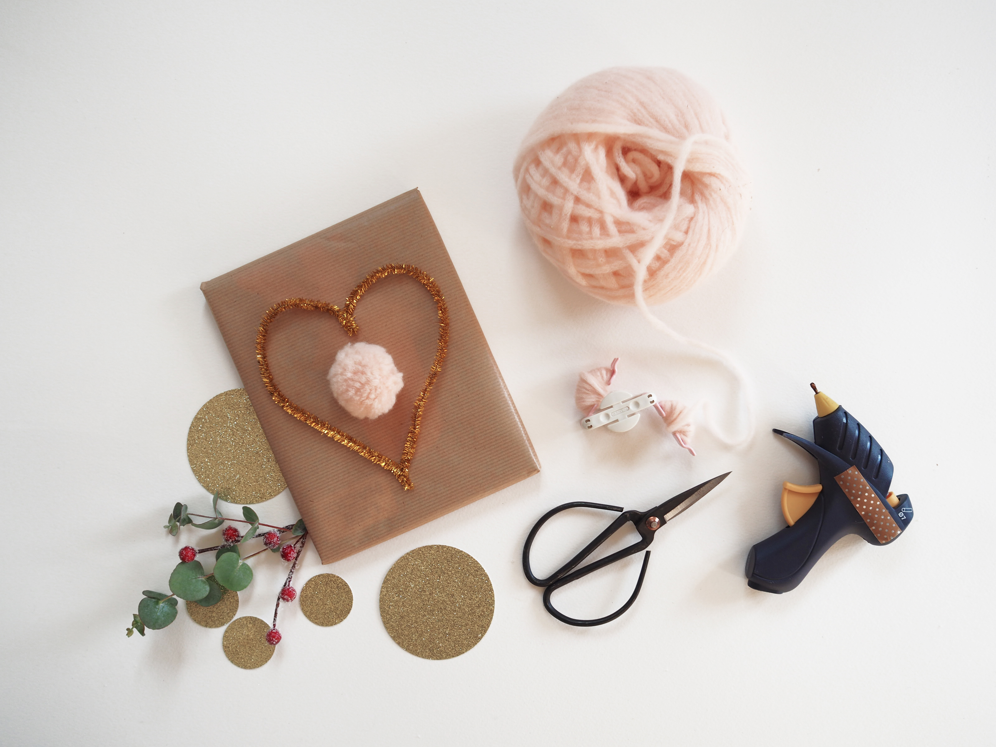 inpakken met wol DIY