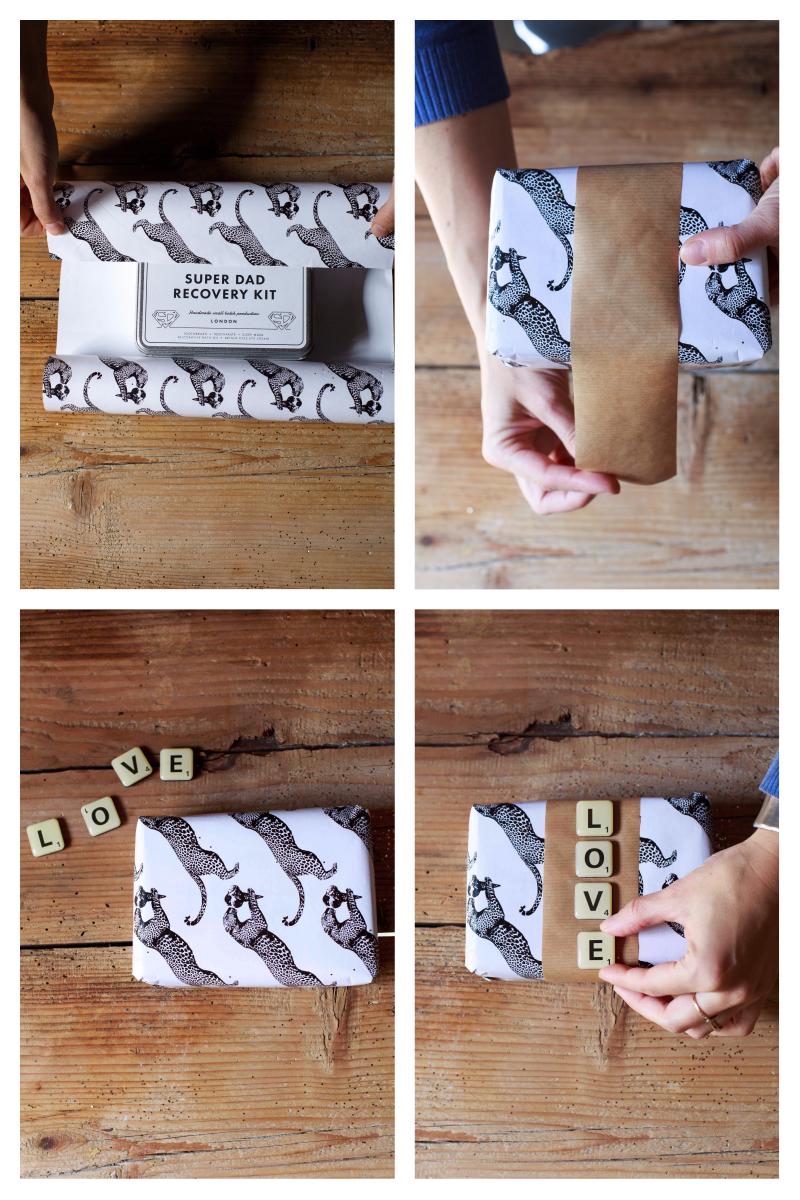 magneten inpakpapier idee
