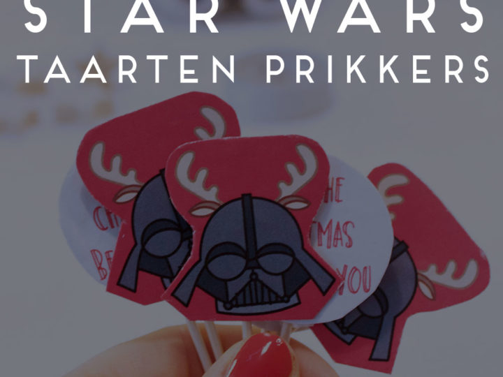 darth vader star wars taarten prikkers diy