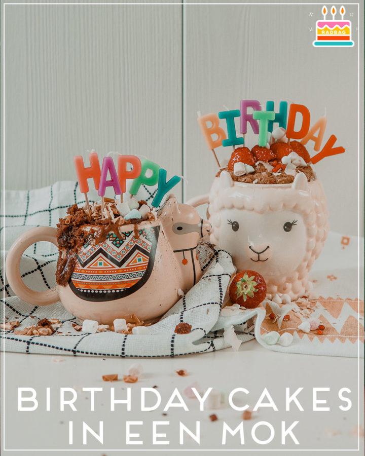 birthday cakes in een mok