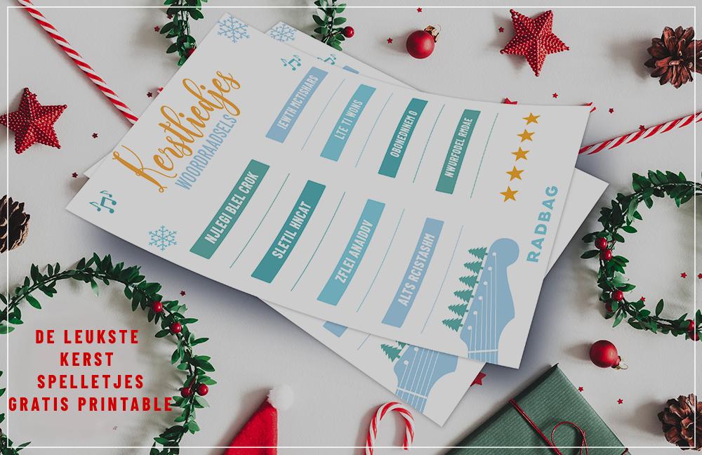 kerst spelletjes 2020 Kerst spelletjes voor jong en oud   gratis printable   Radbag Blog