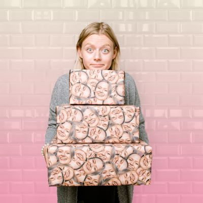 Inpakpapier met vele gezichten