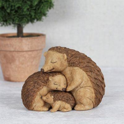 Genadeloos Schattige Egel Familie beeldje