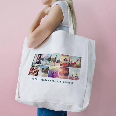Personaliseerbare tas met 10 afbeeldingen en tekst