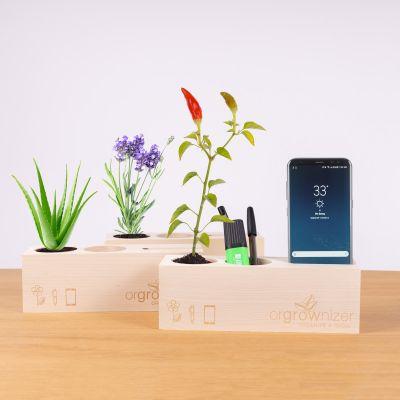 Orgrownizer - Bureau organizer met plant