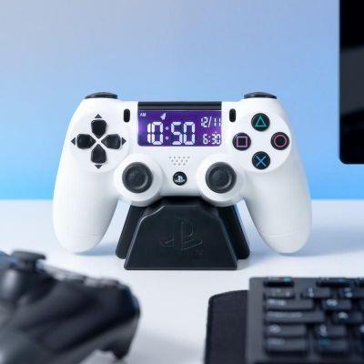 Playstation Controller Wekker Wit
