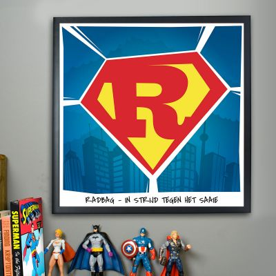 Superman – personaliseerbare Poster