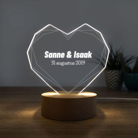 LED-licht met hart