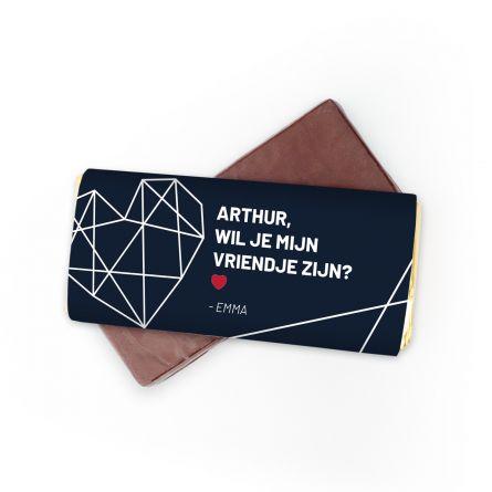 Personaliseerbare chocolade met tekst