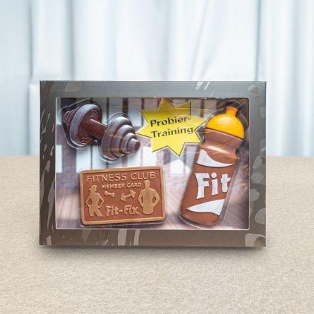 Fitnessset van chocolade