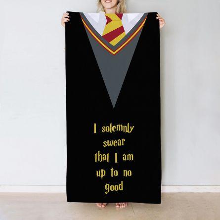 Magische handdoek met 5 tekstregels