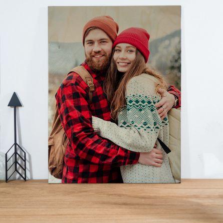Personaliseerbare foto op hout