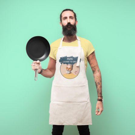 Personaliseerbaar keuken schort met kleur