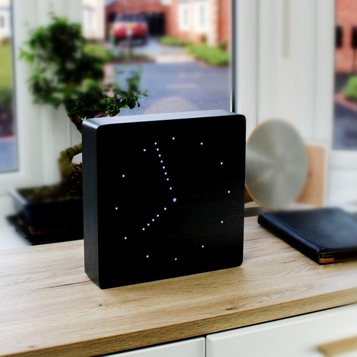 Click Clock analoge klok - Zwart