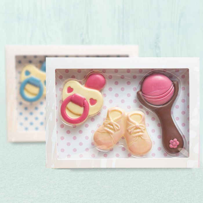 Baby sets uit chocolade