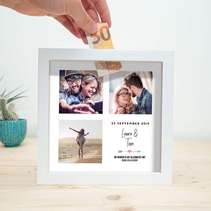 Personaliseerbare spaarpot voor bruiloft