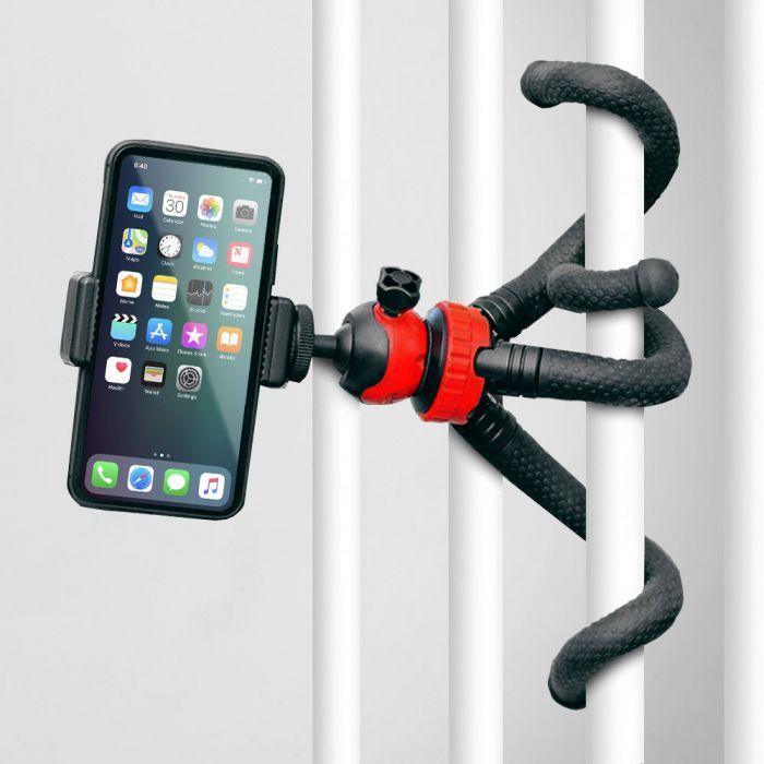 Octopus smartphone- en camerahouder