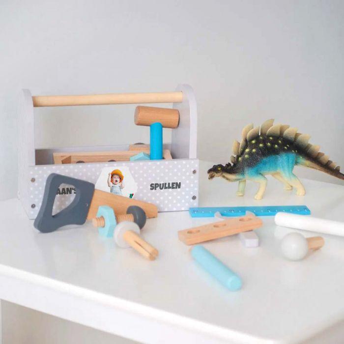 Speelgoed Gereedschapskist met Foto en Tekst