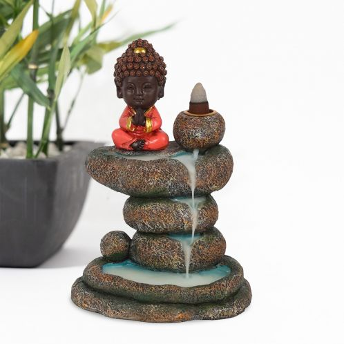 Boeddha bovenop Wierookbrander