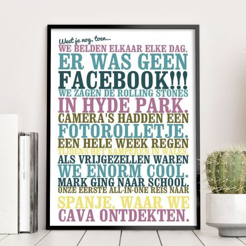 Weet je nog, toen... - personaliseerbare poster