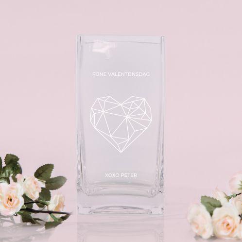 Vaas met hart en tekst