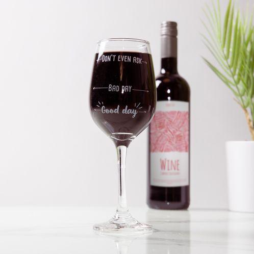 Wijnglas Goede dag Slechte dag