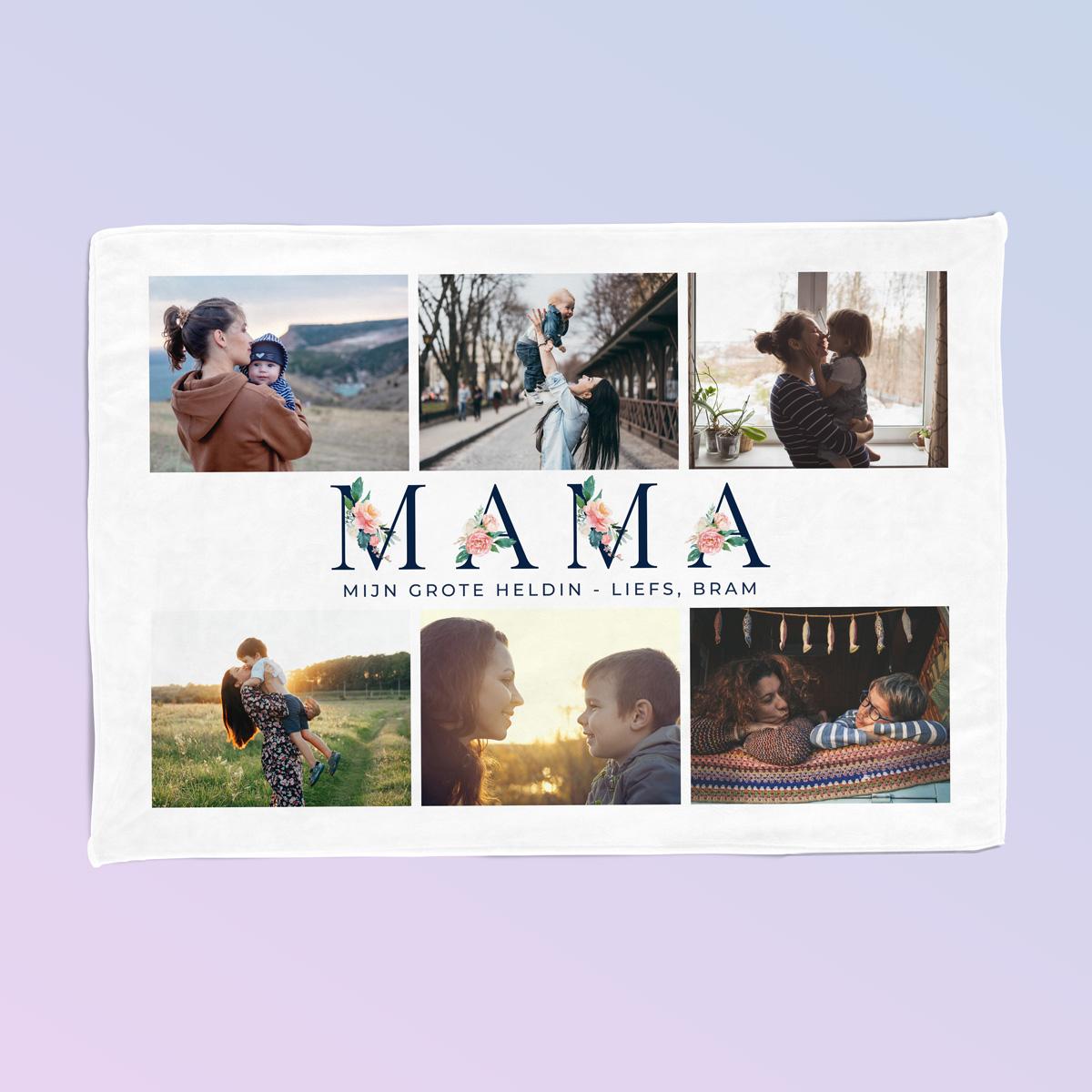 Mama Deken met 6 Foto's en Tekst