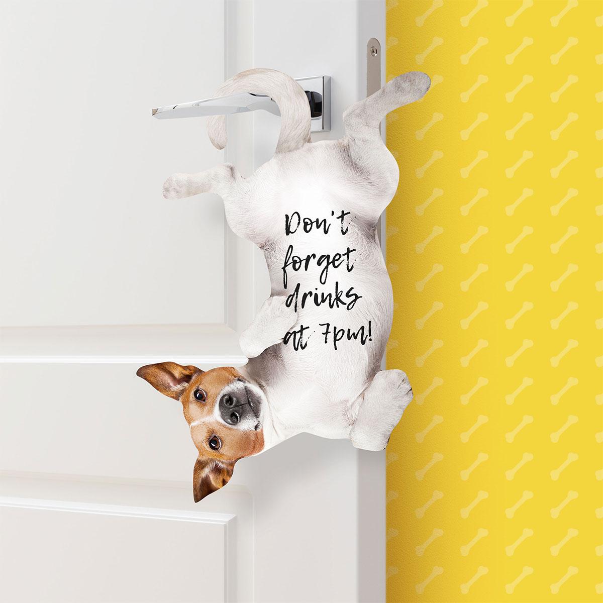 Kat en hond deurhanger plaknotities