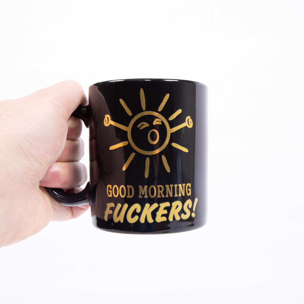 Temperatuurgevoelige mok Goedemorgen F***ers
